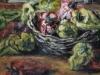Peperoni rossi e gialli - olio su tela - 50x60