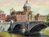 Ponte Amedeo e S. Giovanni dei Fiorentini - olio su tela - 40x60