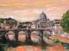 S. Pietro e il Tevere - olio su tela - 40x60