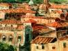 Tetti di Roma - olio su tela - 60x50