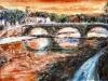 Tramonto a Ponte Cestio - olio su tela - 40x60