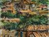 Paesaggio romano - t.m. su cartoncino - 35x25